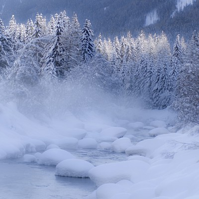 Winter_Defereggental_Osttirol_St. Jakob_Fluss Schwarzach